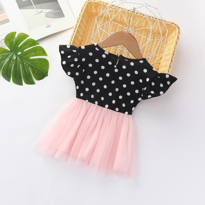 Polka Dot Dress for Toddler Girl Wholesale Children's Clothing