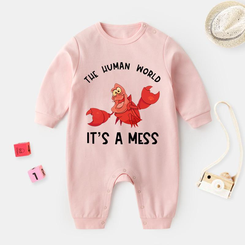 Lobster Pattern Jumpsuit for Baby Wholesale children's clothing