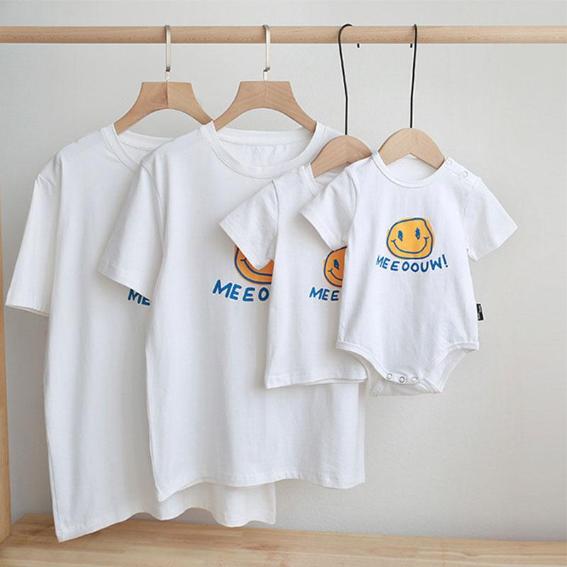 Cartoon Design T-shirt for Whole Family - PrettyKid