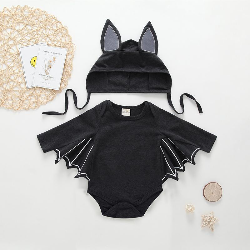 2-piece Cartoon Bat Bodysuit with Hat - PrettyKid