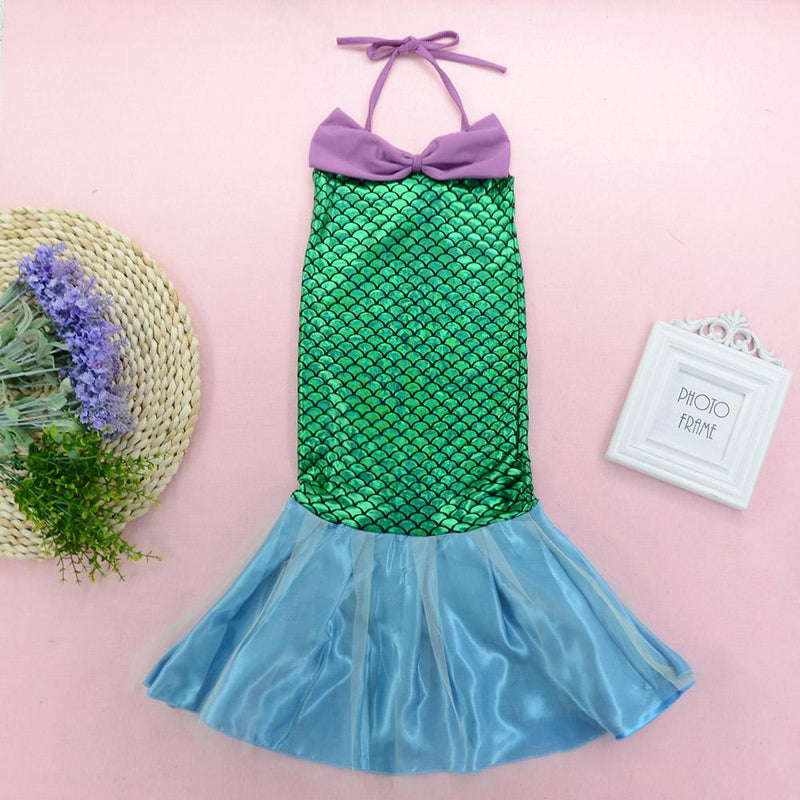 Fashionable Girls Mermaid Suspender Fishtail Dress - PrettyKid