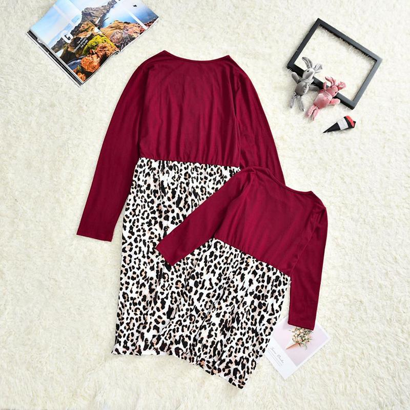 Leopard Dress for Mother & Baby Wholesale children's clothing