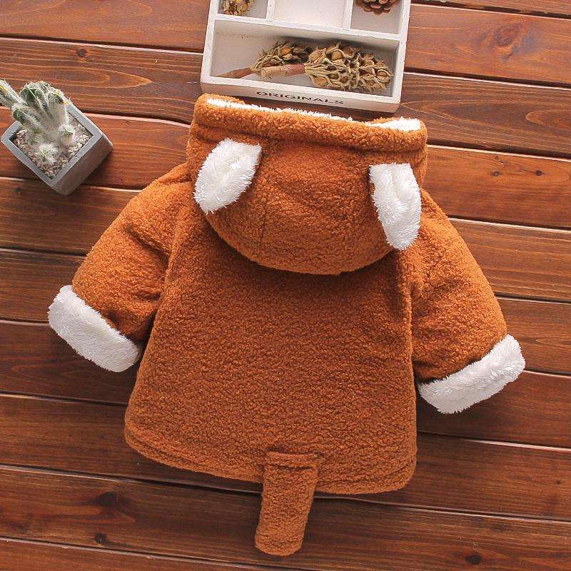 Plush Fox Design Jacket for Toddler Boy Wholesale children's clothing