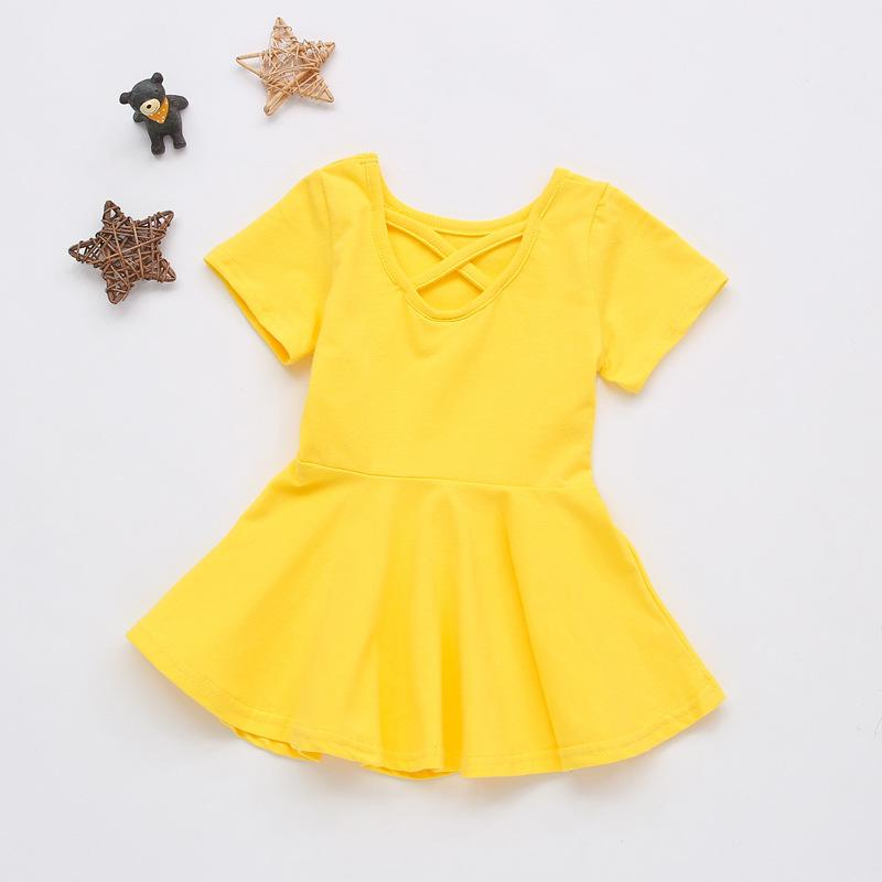 Short Sleeve Dress for Toddler Girl Wholesale Children's Clothing