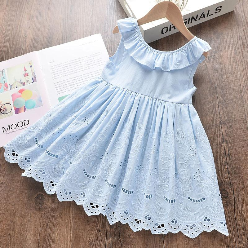 Bowknot Ruffle Dress for Toddler Girl Wholesale Children's Clothing