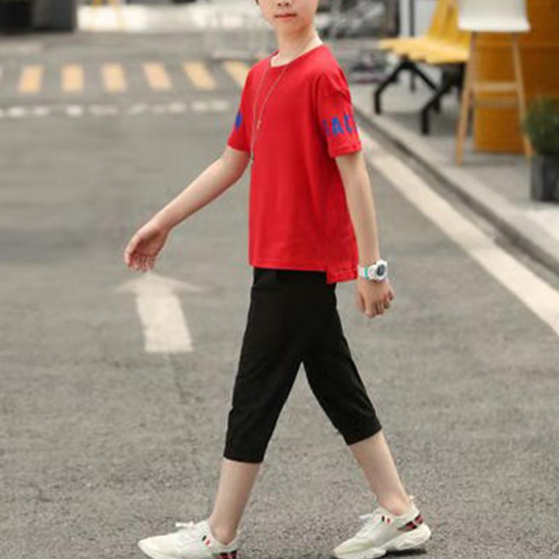 Kid Boy Letter Top & Shorts