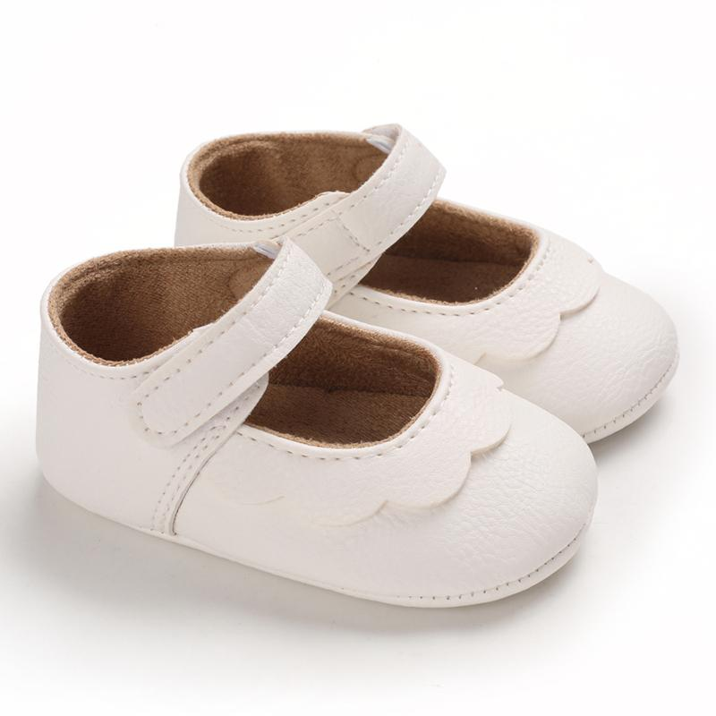 Best Online Kid Boutiques Solid Velcro Design Children Shoes for Baby Girl