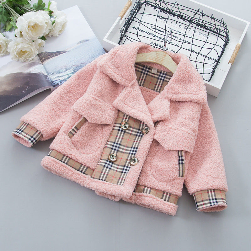 Children Clothing Girls Winter Clothes Top Children's Western Style Coat Baby Girl Winter Coat Wholesaler
