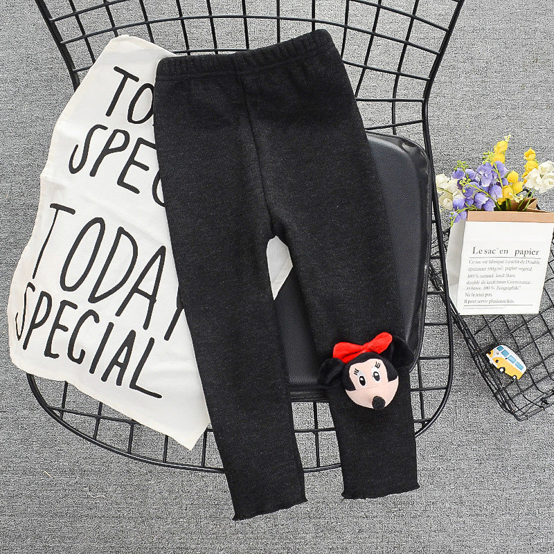 2021 Winter Velvet Padded Leggings Children Winter Thick Trousers Western Pants Wholesale - PrettyKid