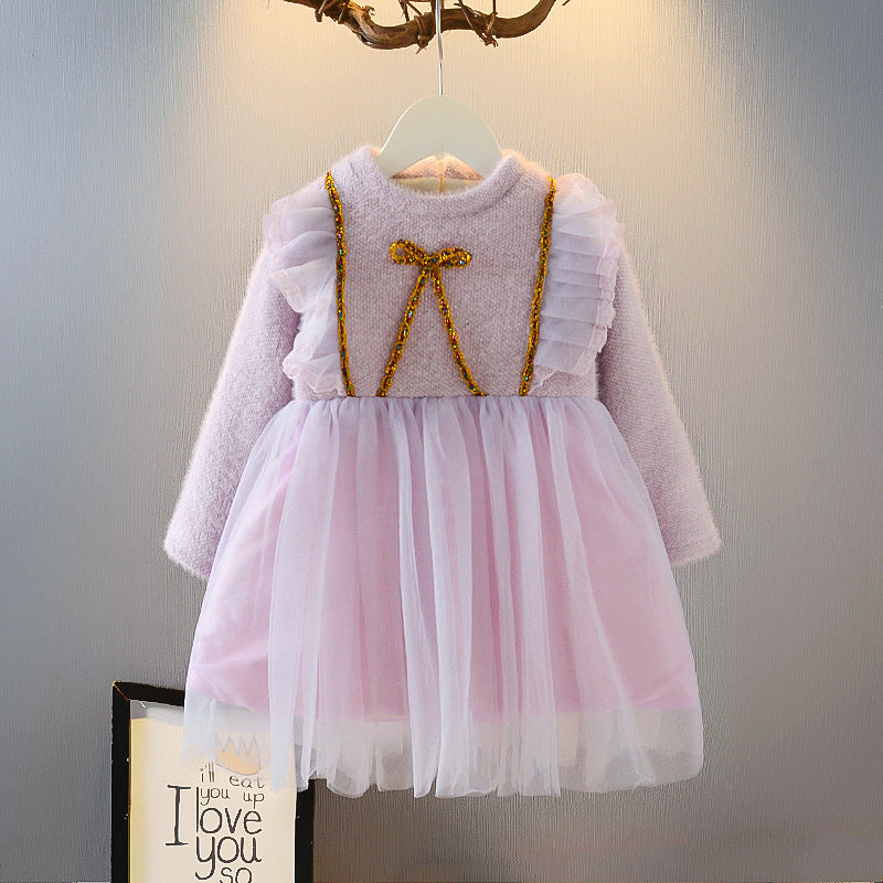 Children Clothing Girls Dress  Baby Fashionable  Princess Dress Little Girl Winter Fashion Distributor