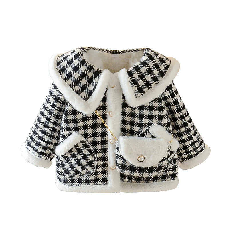 Children Girls Coat Velvet Padded Coat Baby Fashionable Vendor