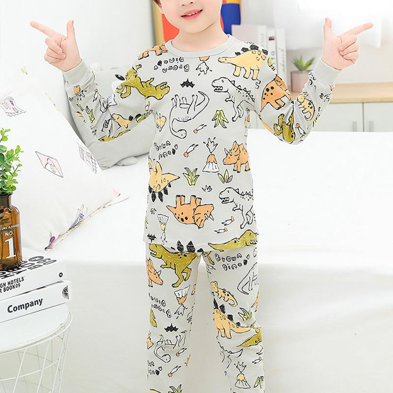 2-piece Dinosaur Printed Pajamas Sets for Boy Wholesale children's clothing