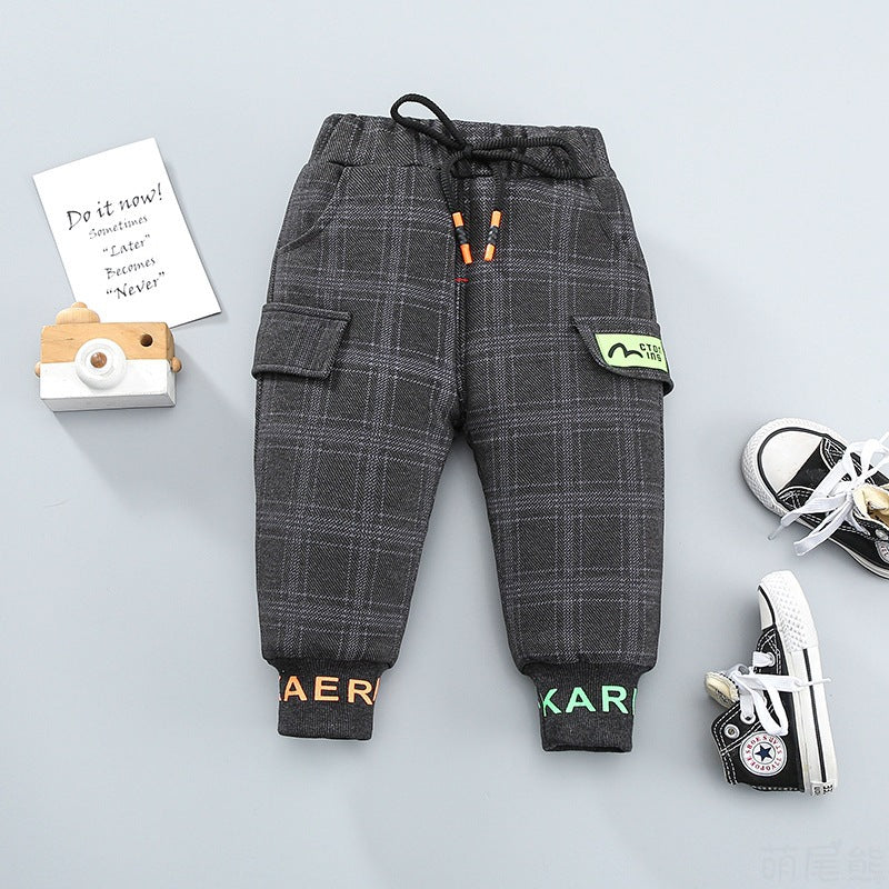 Boys Winter Clothing Trousers Cute Tail Bear Children's Wear Vendor - PrettyKid