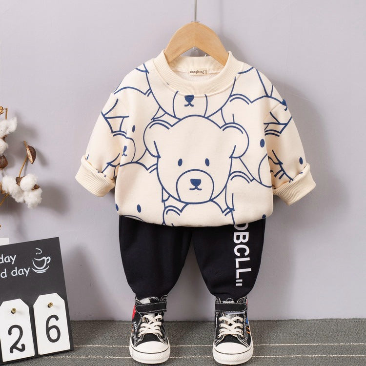 Children Boys Winter Clothing Wholesale Cute Tracksuit sweater pants - PrettyKid