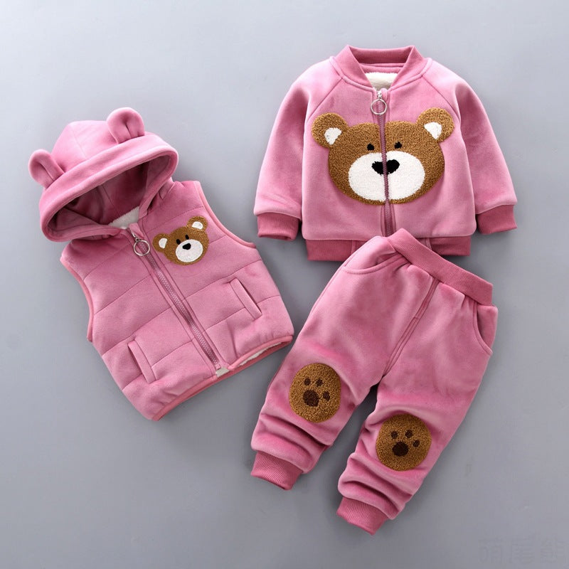 New Style Children Winter Clothing Set New Wholesale Boys and Girls Cute Clothes