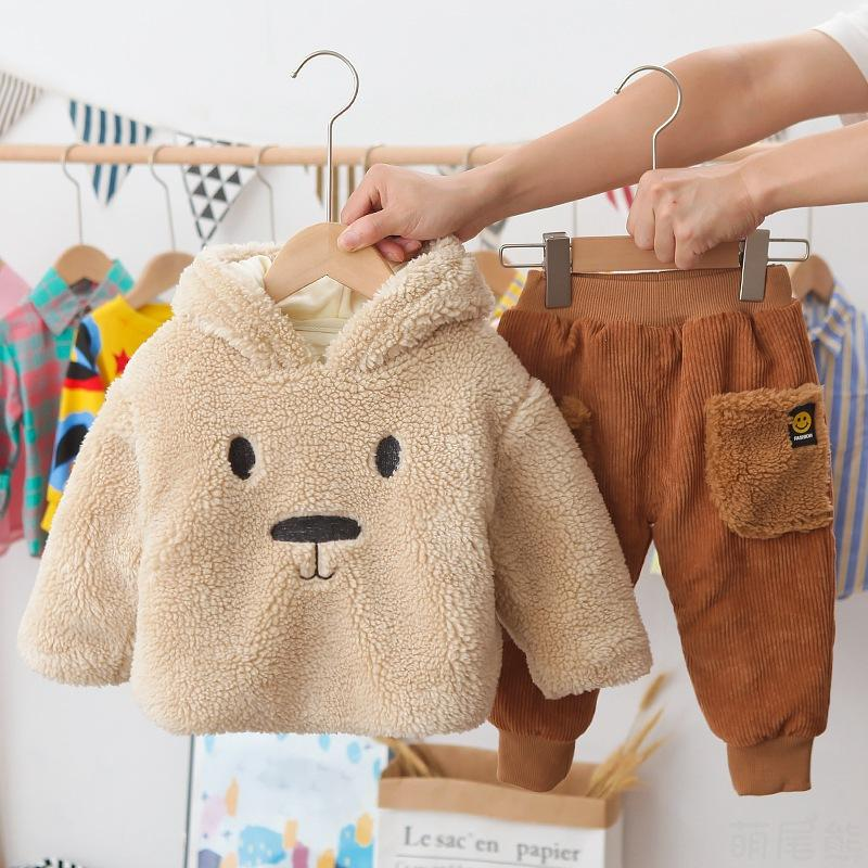 Winter Children Fashion Wholesale Boy's Hoody Two-Piece Set Wholesale Sweater