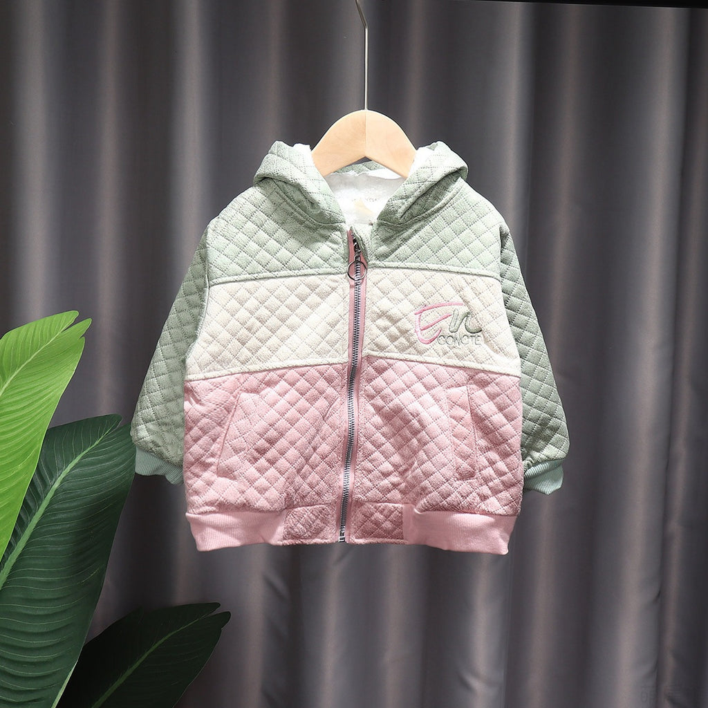 Baby Girls Winter Clothing Fleece Hooded Jacket Manufacturers