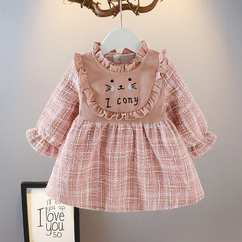 Trendy Children Clothing Girls Winter Clothes Dress  Cartoon Cute Fashionable Princess Dress Distributor