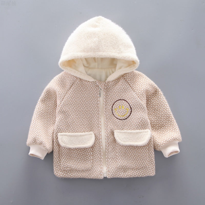 Baby Clothes Boy Hoodie Fleece Padded Coat Cute Kids Clothing Wholesale