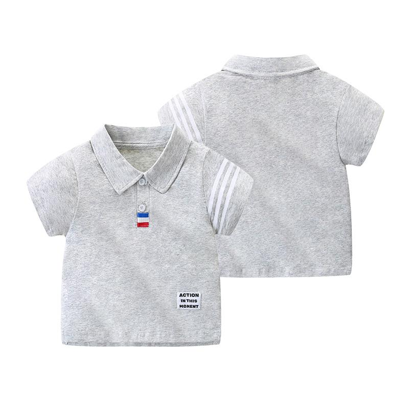 Toddler Boy Stripes Pattern Summer Polo Shirt Wholesale Children's Clothing