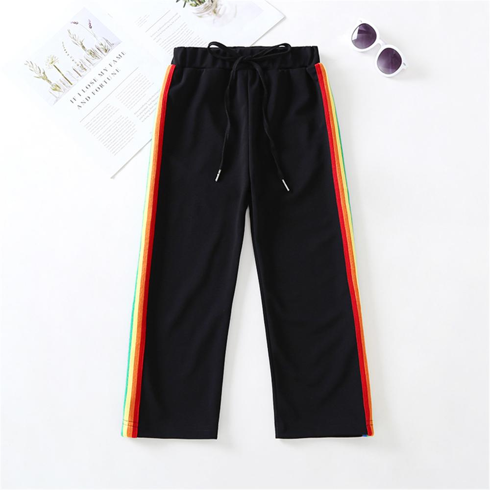 Girls Striped Strappy Casual Sport Pants Girl Boutique Clothing Wholesale - PrettyKid