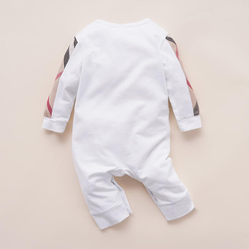 High Quality Cotton Casual Plaid Color-block Long-sleeve Jumpsuit for Baby Children's clothing wholesale