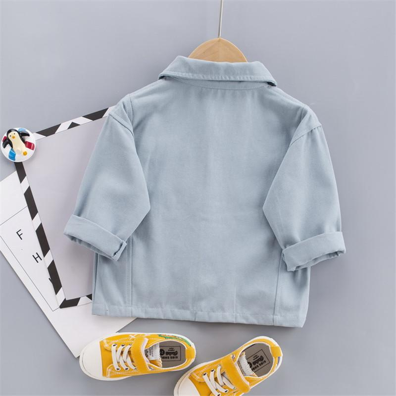Solid Pocket Design Jacket for Toddler Boy Wholesale children's clothing