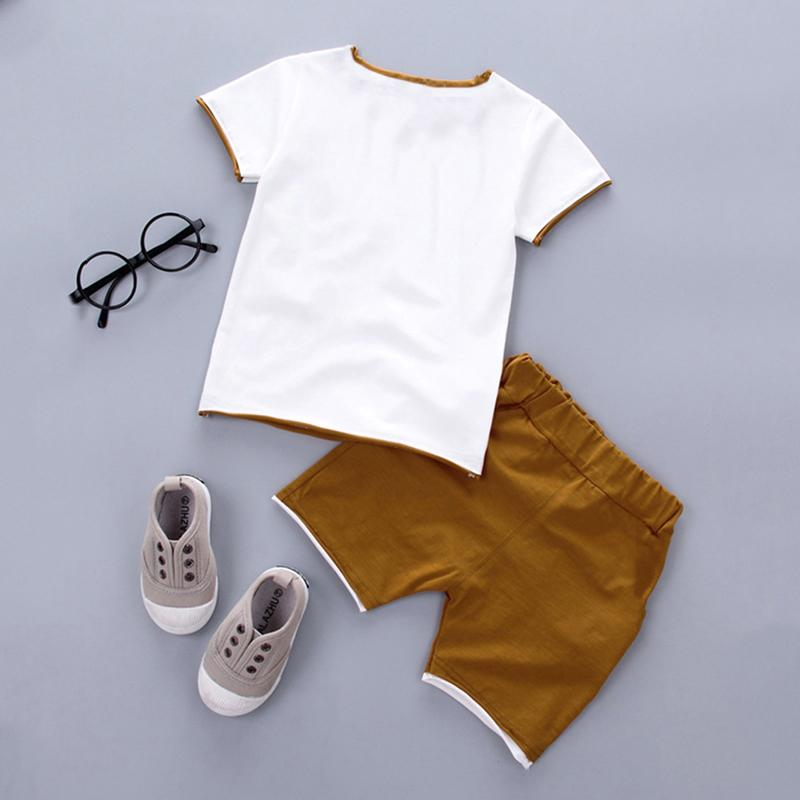 2-piece Pentagram Pattern T-shirt & Shorts for Toddler Boy Wholesale children's clothing
