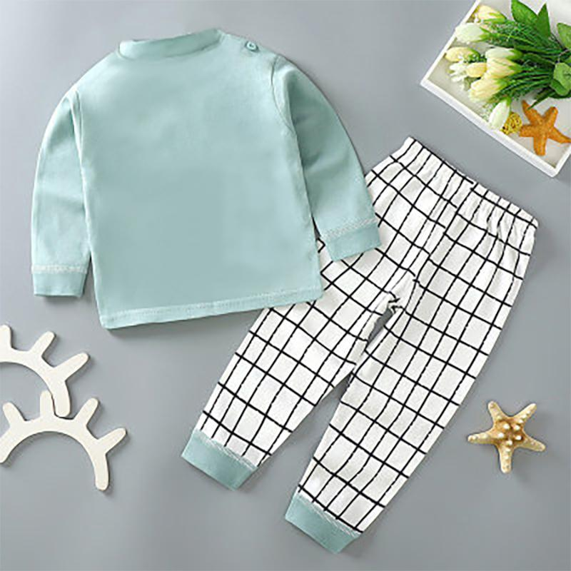 2-piece Cartoon Pattern Pajamas Sets for Toddler Boy Wholesale children's clothing