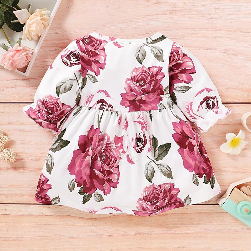 Floral Printed Dress for Baby Girl Wholesale children's clothing