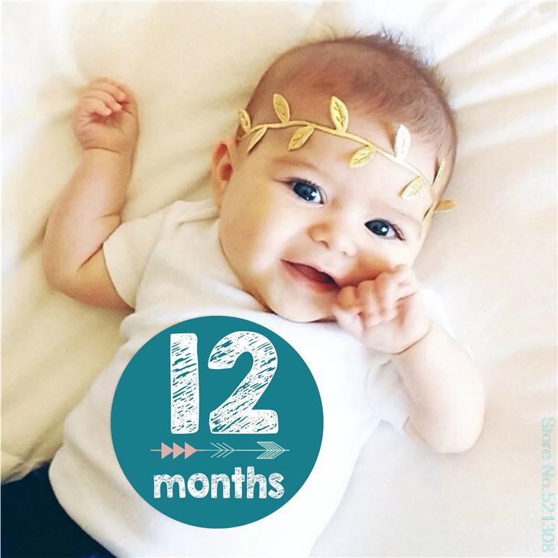12pcs Baby Growth Memorial Month Sticker Wholesale Children's Clothing