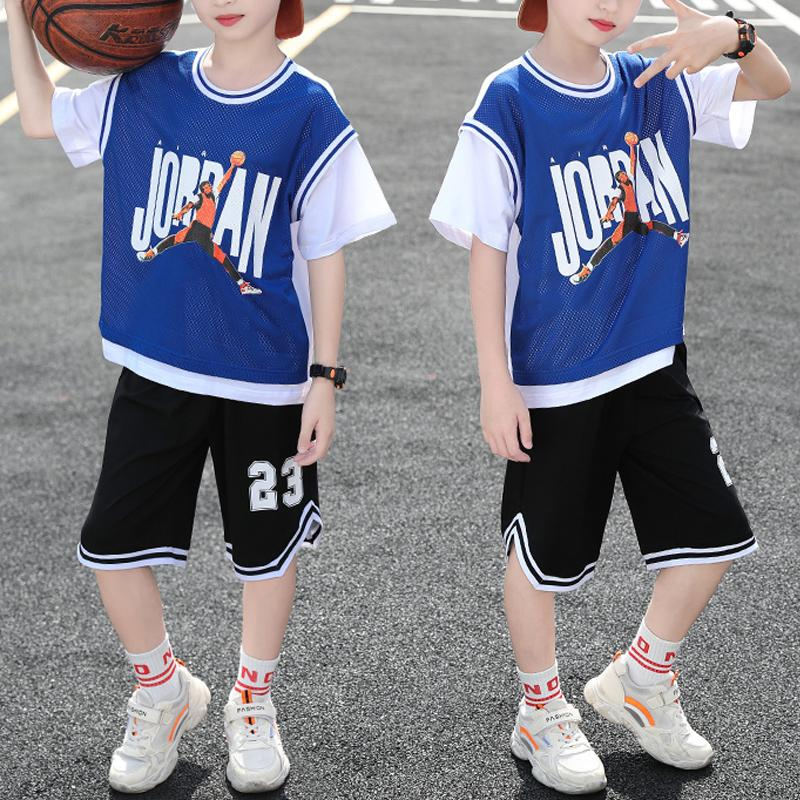 Kid Boy Sports Contrast Color Top & Shorts