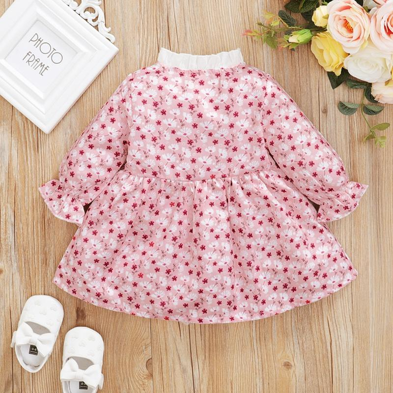 Ruffle Floral Dress for Baby Girl Wholesale children's clothing