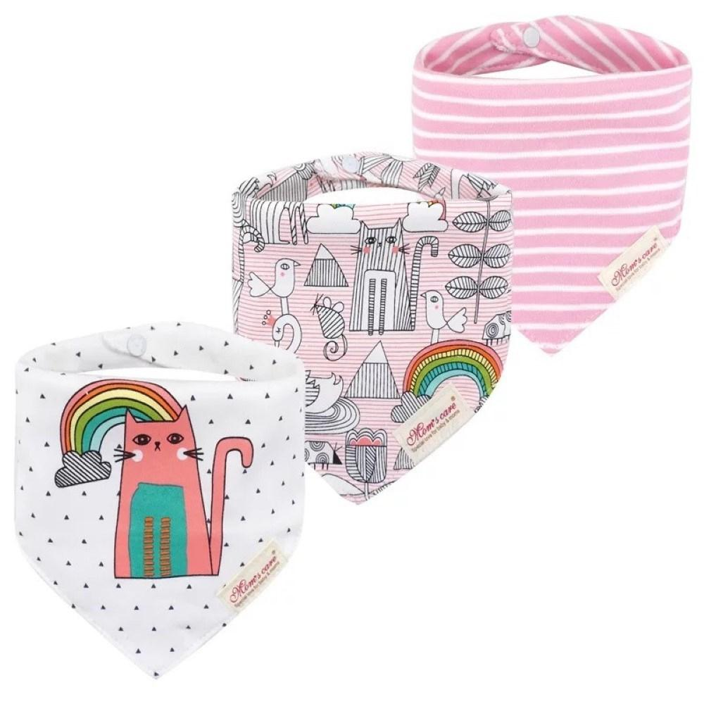 3PCS Baby Cotton double-layer thick waterproof Bibs Baby Accessories Wholesale - PrettyKid