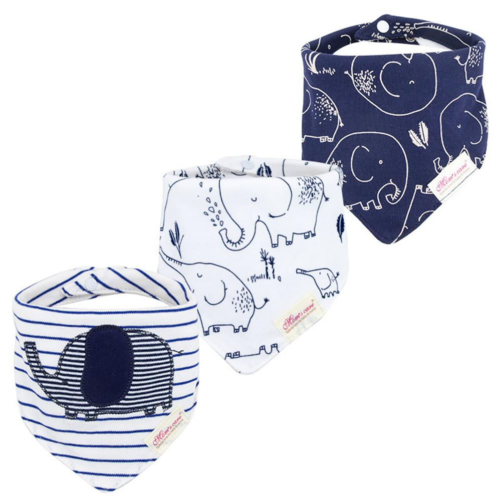 Baby 3PCS Striped Cartoon Printed Casual Bibs Sets Baby Accessories Wholesale