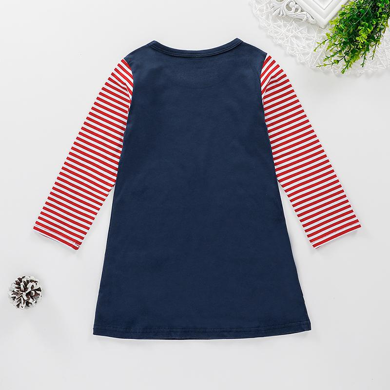 Striped Dress for Toddler Girl Wholesale children's clothing