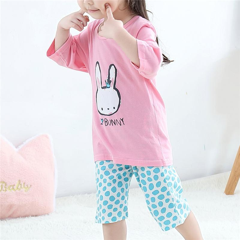 2-piece T-shirt & Capri Pants for Toddler Girl Wholesale Children's Clothing