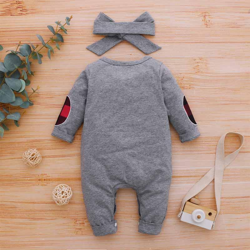 2-piece Bowknot Jumpsuit & Headband for Baby Boy Wholesale children's clothing