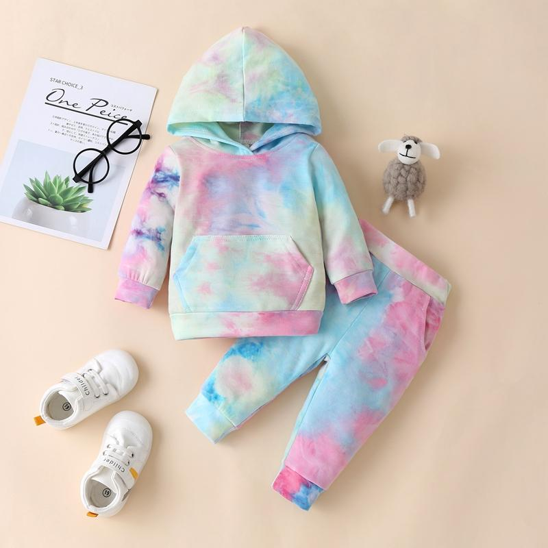 2-piece Tie dye Hoodie & Pants for Baby Wholesale Children's Clothing