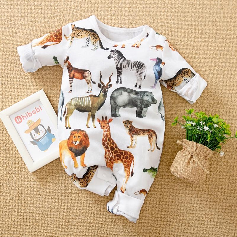 Animal Pattern Jumpsuit for Baby Boy - PrettyKid