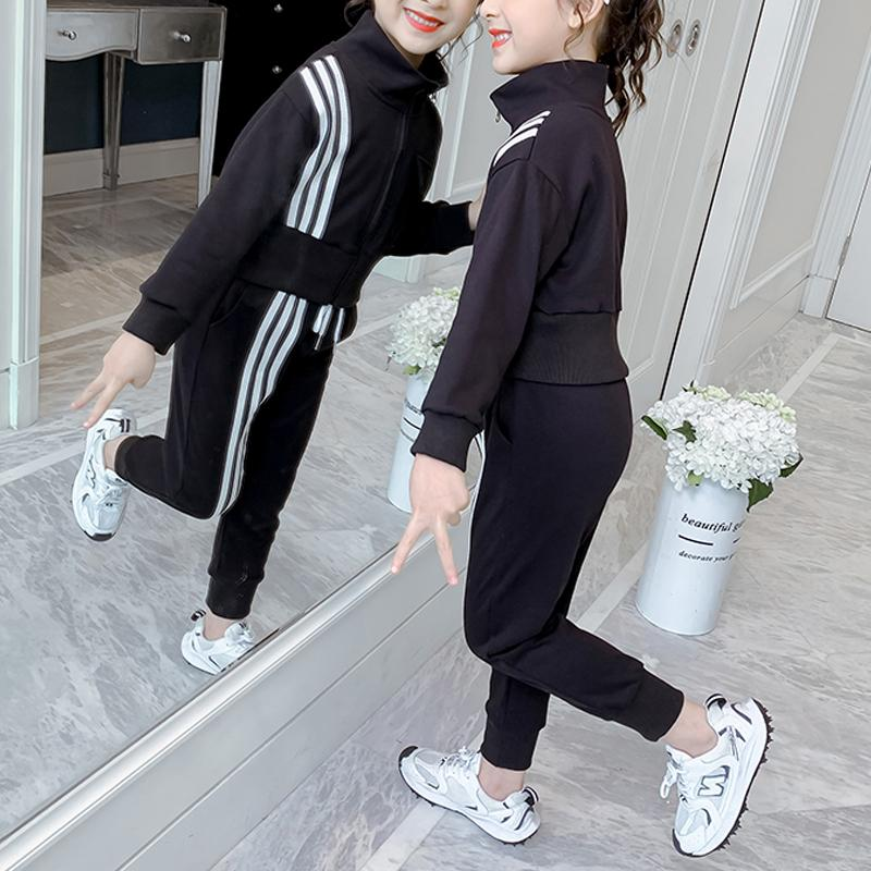 2-piece Stripes Coat & Pants for Girl Wholesale children's clothing