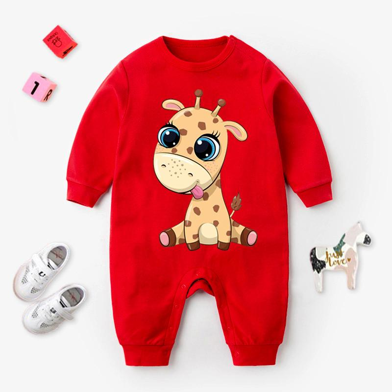 Giraffe Pattern Jumpsuit for Baby Wholesale children's clothing