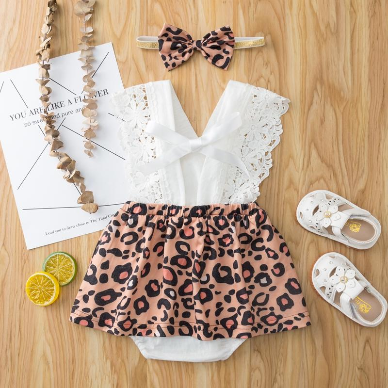 2-piece Leopard Bodysuit & Headband for Baby Girl - PrettyKid