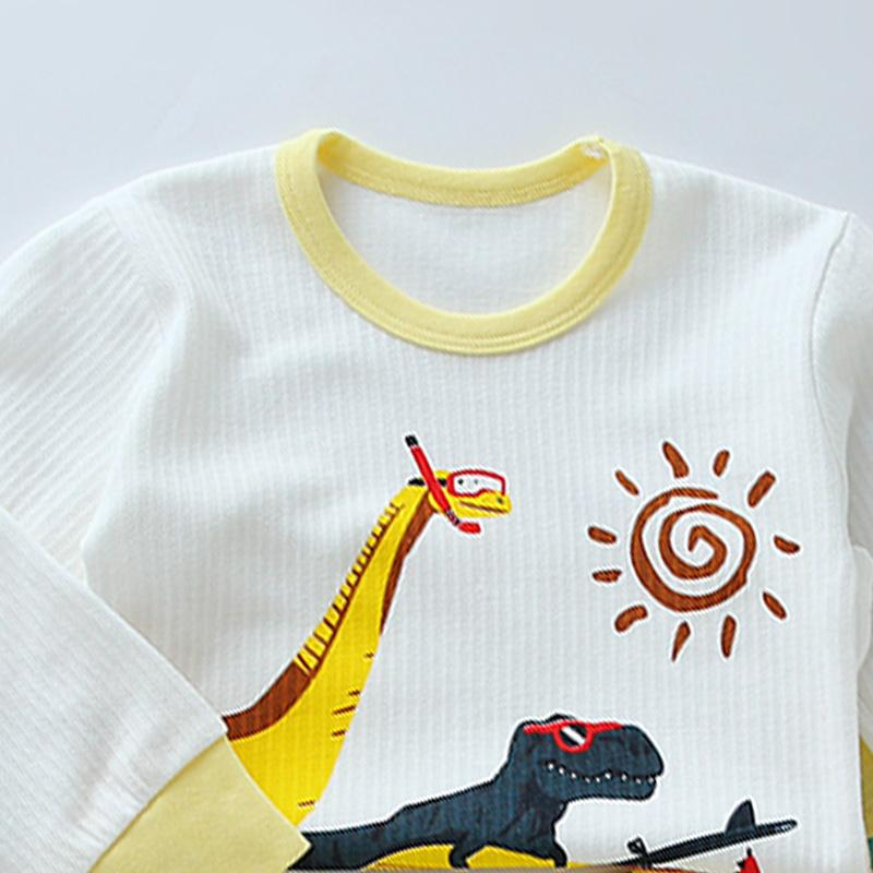 2-piece Dinosaur Pattern Pajamas Sets for Toddler Boy Wholesale Children's Clothing