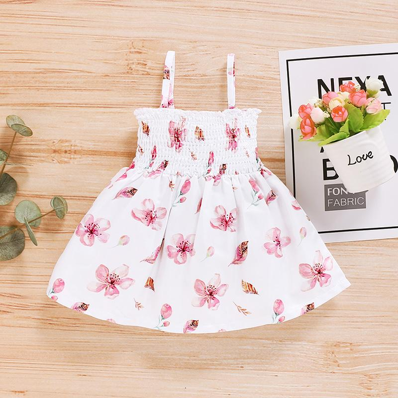 Sling Bow Decor Dress for Baby Girl Wholesale children's clothing