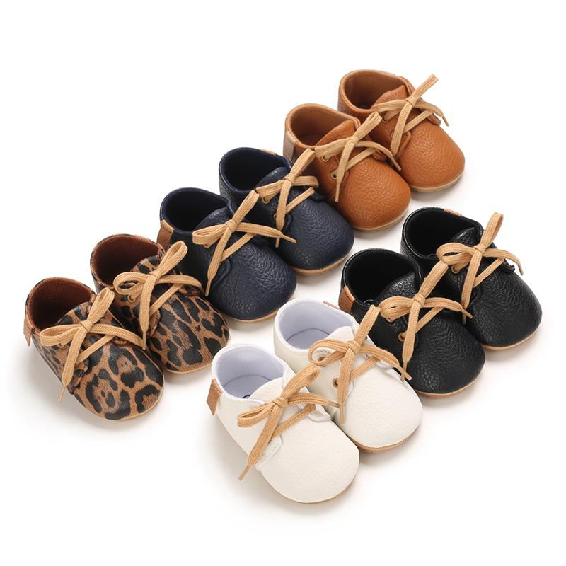 Cute Solid Colors Lace-up Baby Shoes