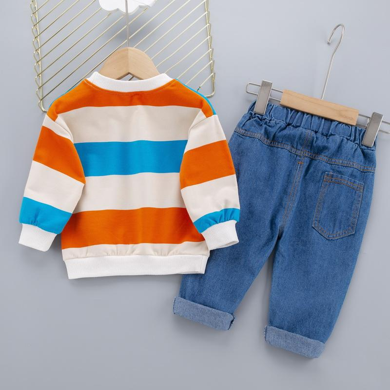 2-piece Colored Stripes Sweatshirt & Pants for Toddler Boy Wholesale Children's Clothing - PrettyKid