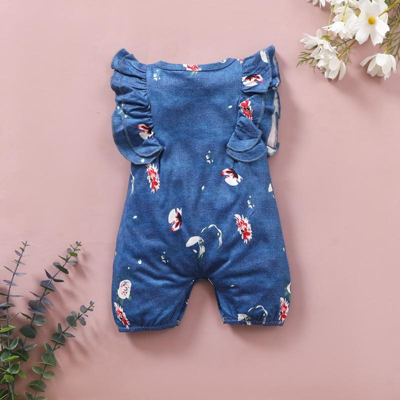 Floral Jumpsuit for Baby Girl Wholesale Children's Clothing