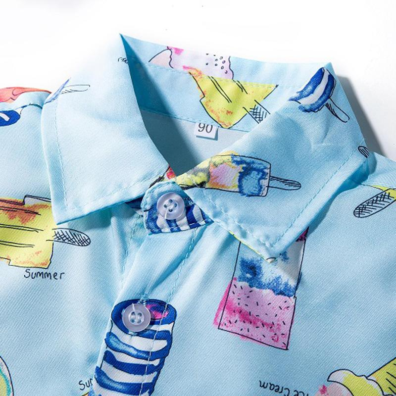 Ice-cream Print Shirt For Boys