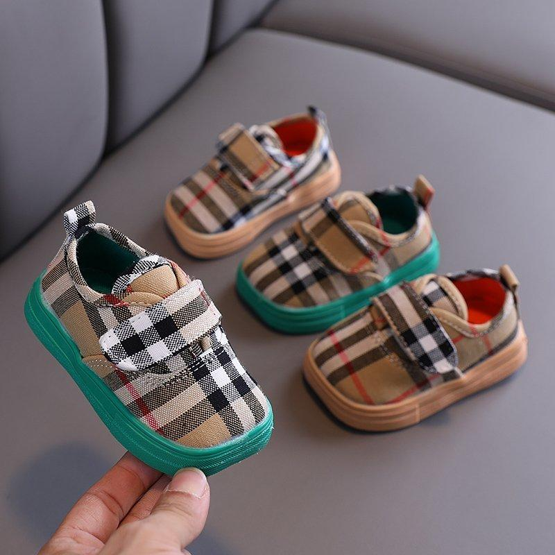 Wholesale Baby Clothing Manufacturers Velcro Design Soft Canvas Shoes for Children Boy